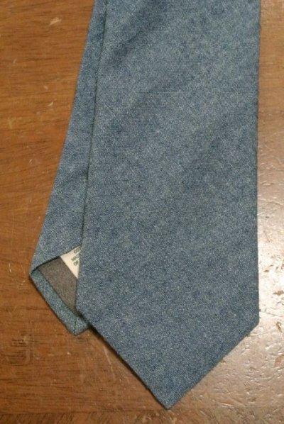 画像1: 【クリックポスト170円も可】 TODD SNYDER トッドスナイダー  コットン シャンブレーネクタイ (Blue) 新品 並行輸入