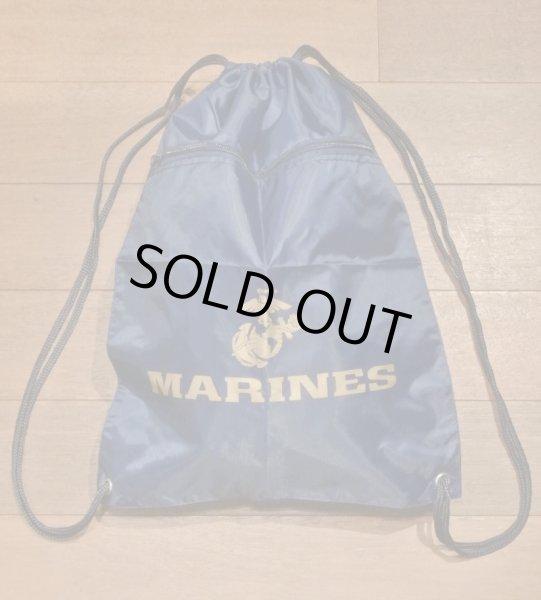 画像1: 【クリックポスト170円も可】 U.S MARINES ナップサック 巾着袋 バッグ (Navy) 新品 (1)
