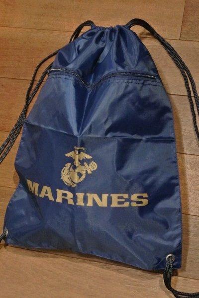 画像2: 【クリックポスト170円も可】 U.S MARINES ナップサック 巾着袋 バッグ (Navy) 新品