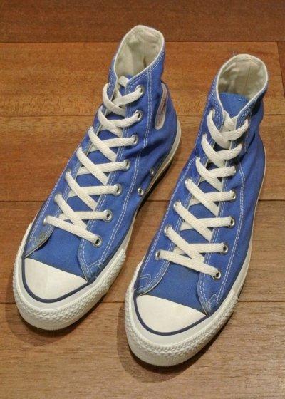 画像2: 90年代製 デッドストック CONVERSE コンバース オールスター HI アメリカ製 【 Blue, 6=24.5cm】 箱無し ワンウォッシュ済
