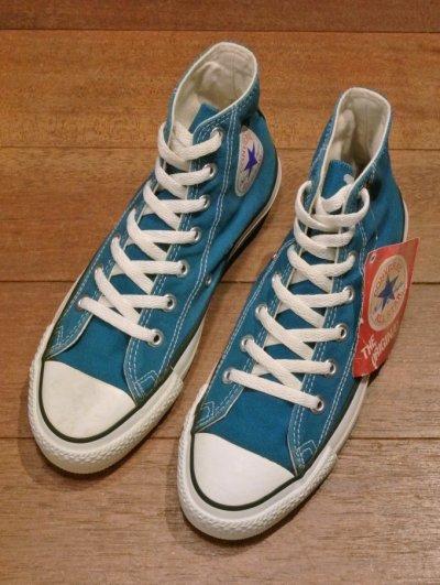 画像2: 90年代製 デッドストック CONVERSE コンバース オールスター HI アメリカ製 【 Bright Blue, 6=24.5cm】 箱無し ワンウォッシュ済