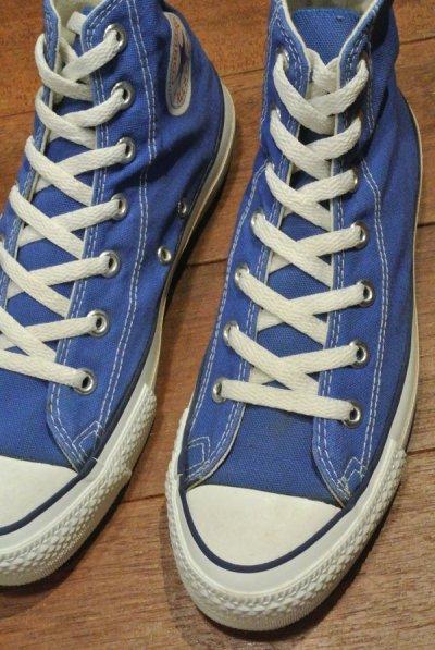 画像1: 90年代製 デッドストック CONVERSE コンバース オールスター HI アメリカ製 【 Blue, 6=24.5cm】 箱無し ワンウォッシュ済