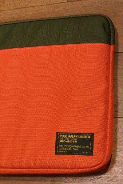 画像2: 【 20%OFF! 】ポロラルフローレン ナイロン ラップトップケース / クラッチバッグ(Oleve*Orange) 新品 並行輸入
