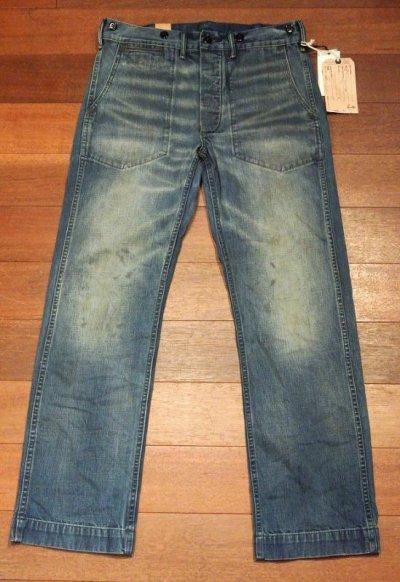 画像2: RRL ダブルアールエル NAVAL FATIGUE PANTS デニムファティーグパンツ 【W30 L30】 新品 定価47520