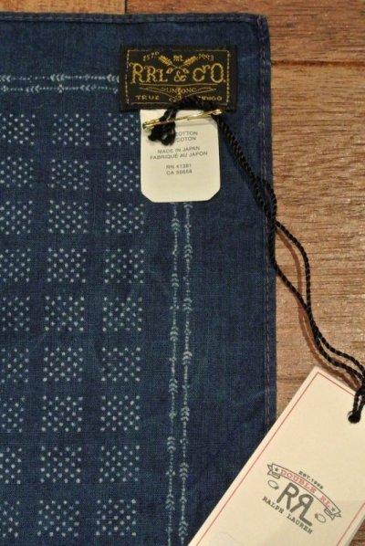 画像3: 【クリックポスト170円も可】 RRL ダブルアールエル インディゴ バンダナ スカーフ  INDIGO BANDANA  新品 定価12960