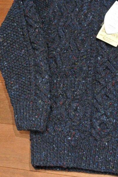 画像3: INVERALLAN インバーアラン 3A ポロカーディガン ミックスカラーネップ ウール ( Blue,40 ) 新品 定価84240