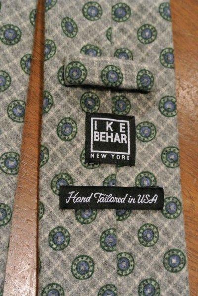 画像3: 【クリックポスト170円も可】 IKE BEHAR アイクベーハー ウール 小紋ネクタイ (Gray) 新品 並行輸入
