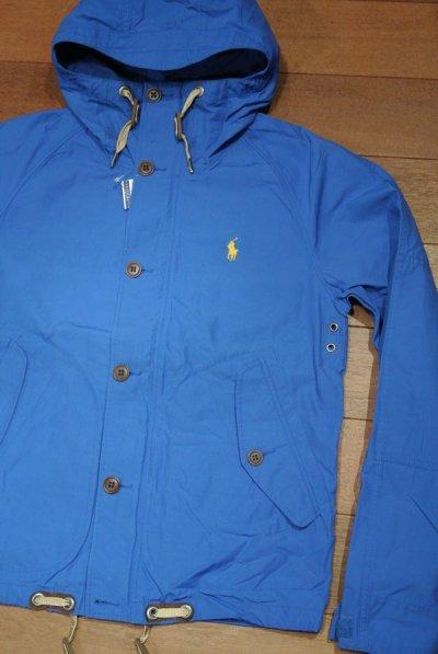 画像1: ポロラルフローレン 60/40クロス フーデッドジャケット  ( BLUE / M ) 新品 並行輸入