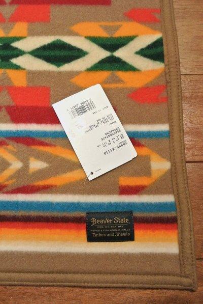 画像3: PENDLETON ペンドルトン ムチャチョブランケット アメリカ製 ひざ掛け (BEAVERSTATE:KHAKI 81.2×111cm) 新品 出産祝い