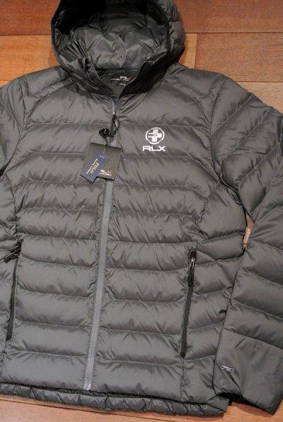 画像1: RLXラルフローレン 耐水 超軽量 フーデッド ダウンジャケット  【Gray / M】 新品 並行輸入