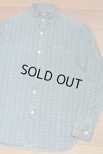 画像1: 【EXCELLENT USED】 RRL インディゴ ワークシャツ 【INDIGO/XS】 中古 (1)