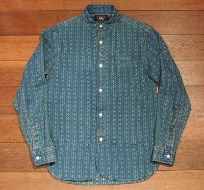画像2: 【EXCELLENT USED】 RRL インディゴ ワークシャツ 【INDIGO/XS】 中古