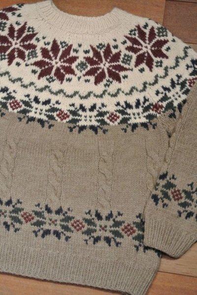 画像1: 【Vintage/Used】 ブルックスブラザーズ Wool+Alpaca セーター イタリア製 (M)