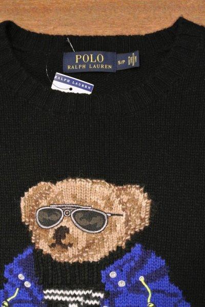 画像3: ポロラルフローレン ポロベアー  ウール クルーネック セーター  (Black / M) 新品 並行輸入