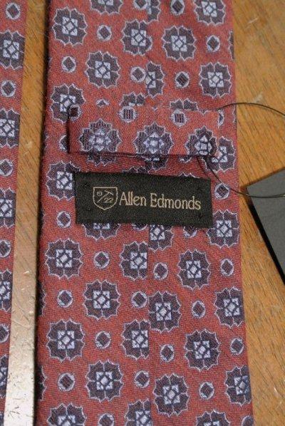 画像3: 【クリックポスト185円も可】 AllenEdmonds Silk×Wool ネクタイ【Red×Blue】 アメリカ製 新品