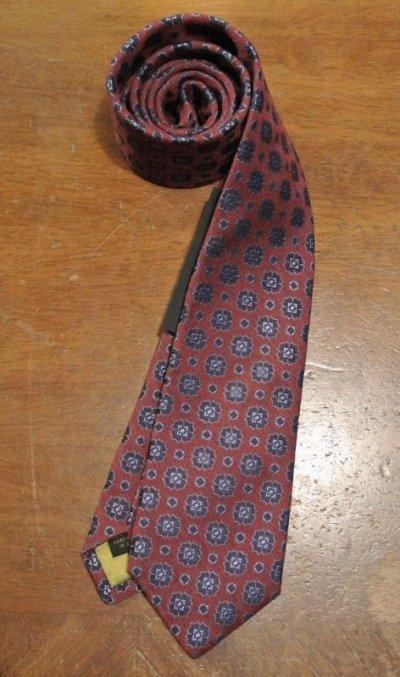 画像2: 【クリックポスト185円も可】 AllenEdmonds Silk×Wool ネクタイ【Red×Blue】 アメリカ製 新品