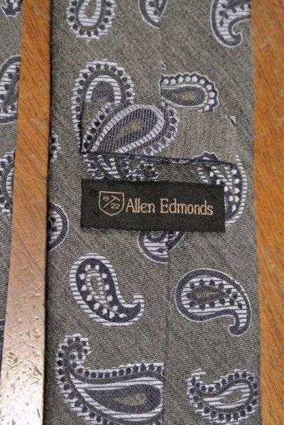 画像3: SALE.【クリックポスト198円も可】 AllenEdmonds Wool×Silk ペイズリー ネクタイ 【Gray×Blue】 アメリカ製 新品
