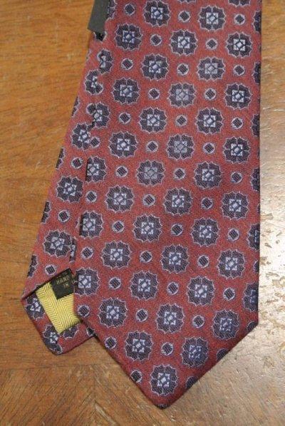 画像1: 【クリックポスト185円も可】 AllenEdmonds Silk×Wool ネクタイ【Red×Blue】 アメリカ製 新品