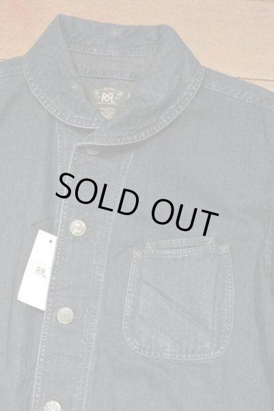 画像1: RRL インディゴ HBT ショールカラー ワークジャケット【L】新品 並行輸入 $490 (1)