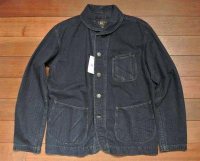画像3: RRL インディゴ HBT ショールカラー ワークジャケット【L】新品 並行輸入 $490