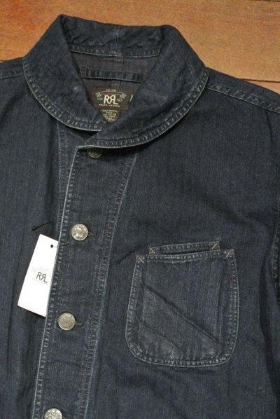 画像1: RRL インディゴ HBT ショールカラー ワークジャケット【L】新品 並行輸入 $490