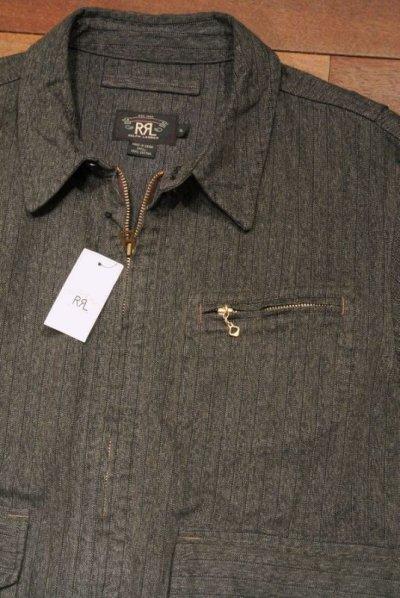 画像1: RRL ダブルアールエル  杢ストライプ地 ワークジャケット【XL】新品 並行輸入