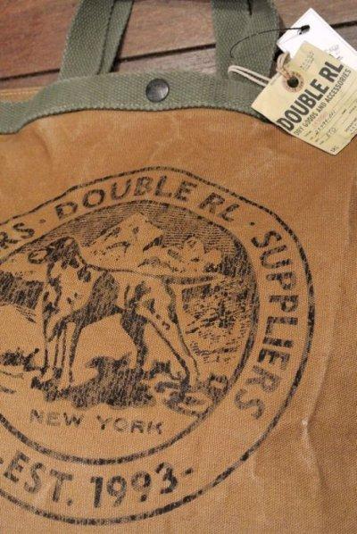 画像3: RRLコットンキャンバス マーケット トートバッグ 【Brown】新品 定価27000
