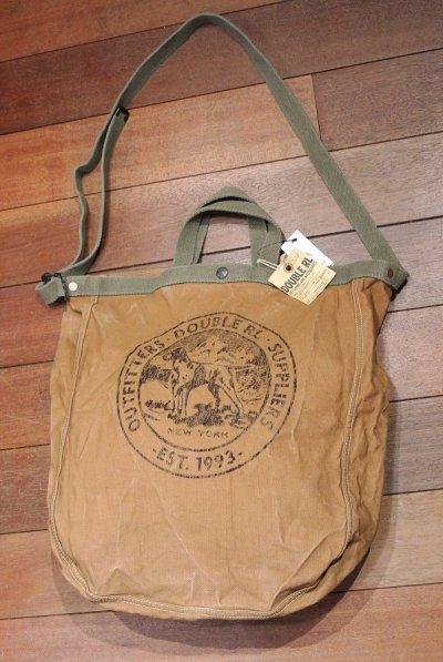 画像2: RRLコットンキャンバス マーケット トートバッグ 【Brown】新品 定価27000