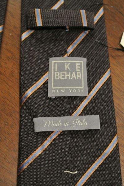 画像3: 【クリックポスト170円も可】IKE BEHAR(アイクベーハー) ストライプ ネクタイ (Brown) イタリア製 新品