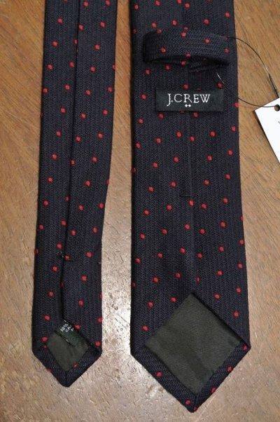 画像3: 【クリックポスト170円も可】J.CREW ウール×シルク ドット ネクタイ (Navy*Red)  新品 並行輸入