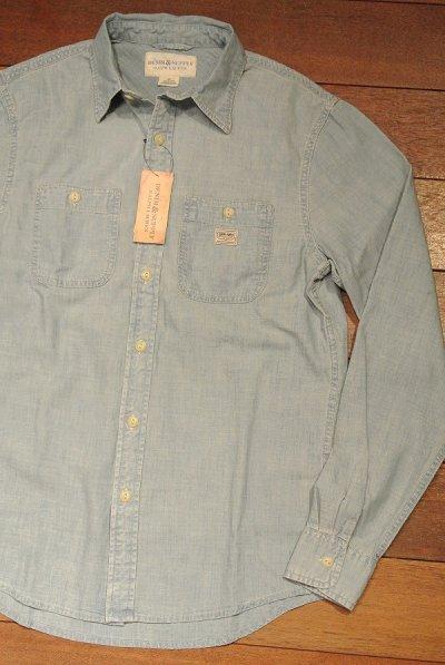 画像1: DENIM&SUPPLY デニム&サプライ ラルフローレン シャンブレー ワークシャツ  (S,M) 新品 並行輸入