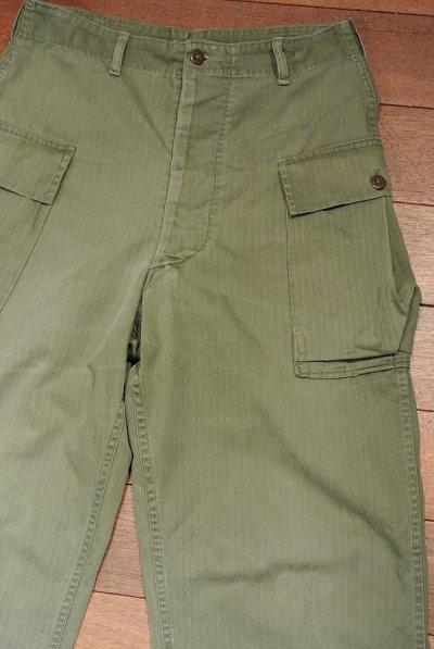 画像1: 【Vintage/Used】40's  U.S ARMY M-43 HBT Pants ヘリンボーンツイルパンツ 【W32】