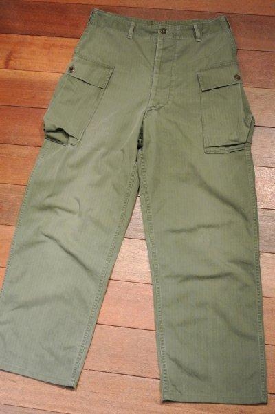 画像2: 【Vintage/Used】40's  U.S ARMY M-43 HBT Pants ヘリンボーンツイルパンツ 【W32】