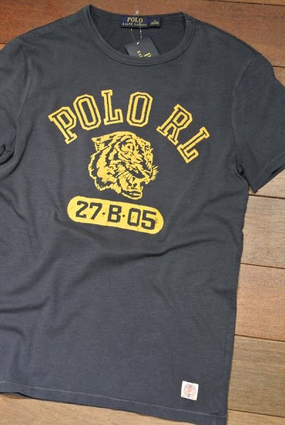 画像1: 【クリックポスト170円も可】ポロラルフローレン フロッキープリント Tシャツ  (Navy / S) 新品 並行輸入