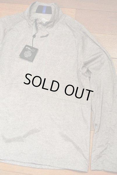 画像1: RLX Ralphlauren GOLF ナイロン プルオーバーシャツ  ヘリンボーンツイードプリント (M) $275 新品 並行輸入 (1)