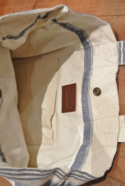 画像3: 【SALE!!】ポロラルフローレン  リネン ストライプ トートバッグ【Blue*White】$125 並行輸入 新品