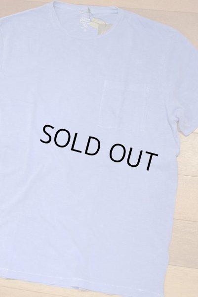 画像1: 【XLサイズ】【クリックポスト170円も可】J.CREW 後染め ポケットTシャツ アメリカ製(Blue / XL) 新品 並行輸入 (1)