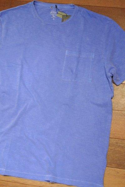 画像1: 【XLサイズ】【クリックポスト170円も可】J.CREW 後染め ポケットTシャツ アメリカ製(Blue / XL) 新品 並行輸入