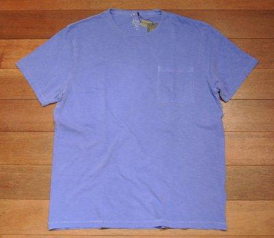 画像2: 【XLサイズ】【クリックポスト170円も可】J.CREW 後染め ポケットTシャツ アメリカ製(Blue / XL) 新品 並行輸入