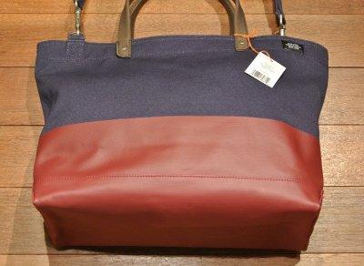画像3: JACK SPADE(ジャックスペード)DIPPED COAL BAG キャンバス トートバッグ  ( Navy*Red ) 新品 並行輸入