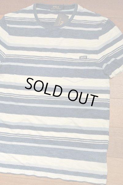 画像1: 【クリックポスト170円も可】 ポロラルフローレン インディゴ ポケットボーダーTシャツ【S】新品 定価10360 (1)