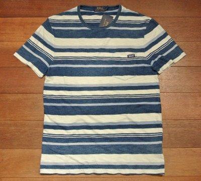 画像3: 【クリックポスト170円も可】 ポロラルフローレン インディゴ ポケットボーダーTシャツ【S】新品 定価10360