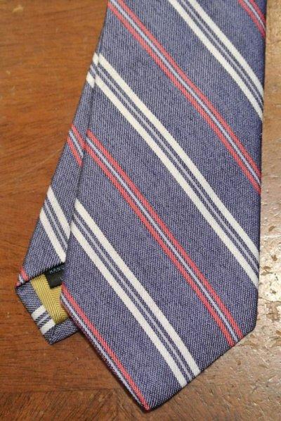 画像1: 【クリックポスト185円も可】 AllenEdmonds Silk×Linen ネクタイ【Blue×Red×White】 アメリカ製 新品