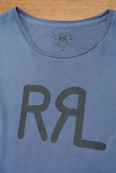 画像3: 【クリックポスト170円も可】【EXCELLENT USED】RRL ダブルアールエル ロゴTシャツ (BLUE/M) 中古