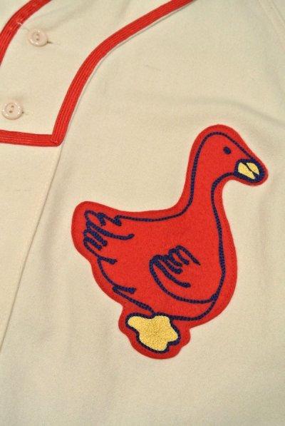 画像3: 新品 EBBETS FIELD FLANNELS ウール ベースボールシャツ 【Portland Ducks 1933 Home / S】$195