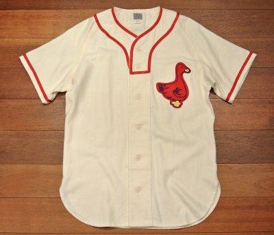 画像2: 新品 EBBETS FIELD FLANNELS ウール ベースボールシャツ 【Portland Ducks 1933 Home / S】$195