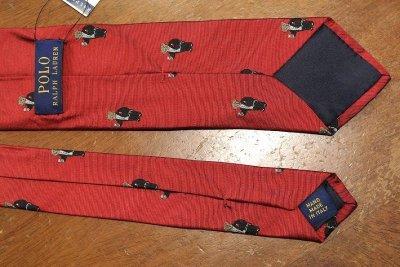 画像3: 【クリックポスト170円も可】ポロラルフローレン ベアー モノグラム刺繍 シルクネクタイ (Red) ポロベアー 新品