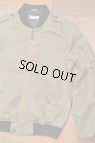 画像1: 【USED】WALLACE&BURNES MA-1  contrast bomber jacket ジャケット【Khaki/S】  (1)