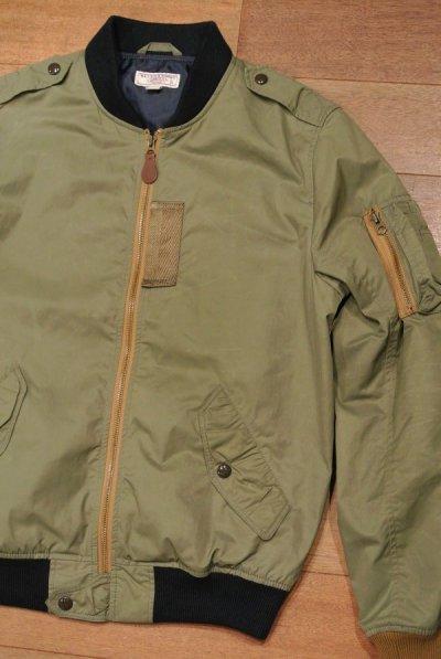 画像1: 【USED】WALLACE&BURNES MA-1  contrast bomber jacket ジャケット【Khaki/S】