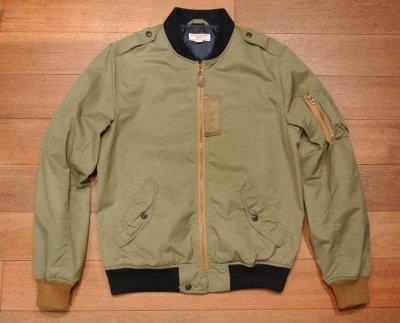 画像2: 【USED】WALLACE&BURNES MA-1  contrast bomber jacket ジャケット【Khaki/S】
